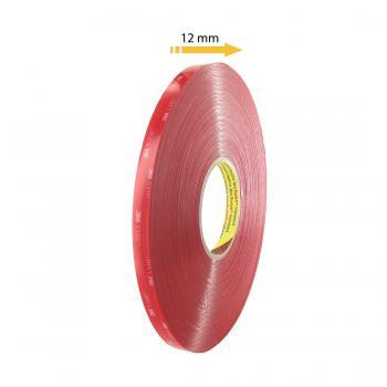 Băng keo 2 mặt 3M VHB 4910 trong suốt 10mmx33m (Đỏ)