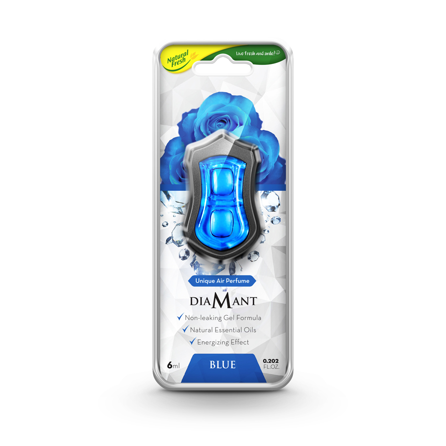 Kẹp thơm kẹp cửa gió xe hơi Natural Fresh Diamant - Hương Blue 6ml