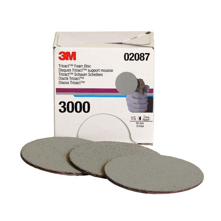 Nhám đĩa 3M 3in 02087 Trizact Hookit 3'' P3000 Grit Foam Disc 75mm