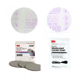 Bộ sản phẩm phục hồi và bảo vệ đèn xe 3M Quick Headlight 3in Tool