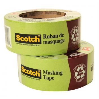 Băng keo giấy Masking Tape 3M cao cấp 2055PCW-48CP màu xanh lá 48mmx55m