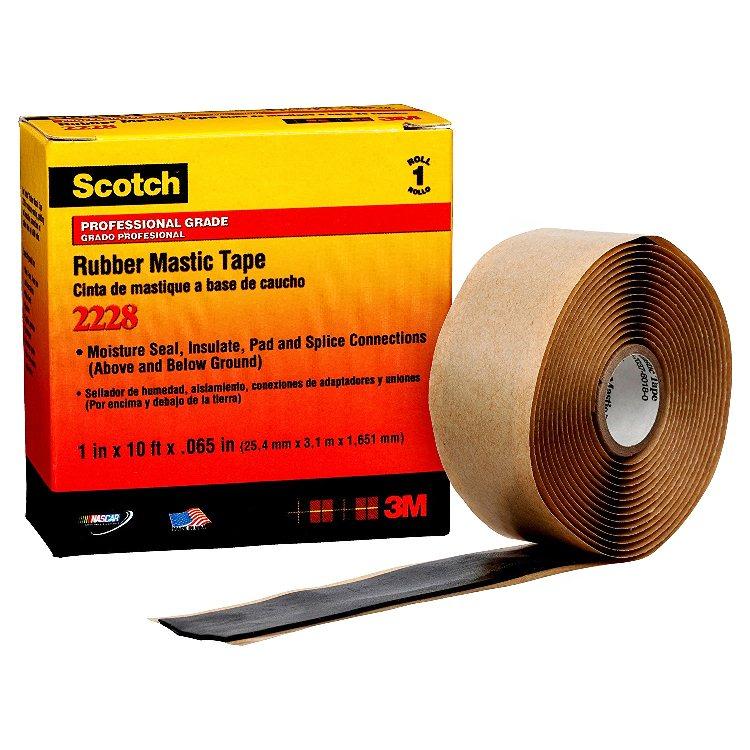 Băng keo điện tự kết dính, chịu dòng cao, chống nước, tiêu âm 3M Scotch Rubber MasticTape 50mmx3.1mx1.6mm