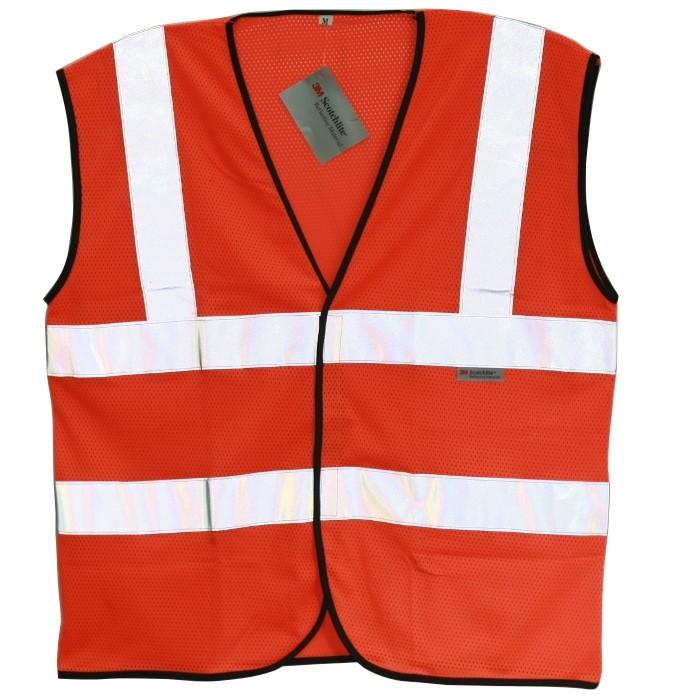 Áo phản quang cao cấp 3M 8906 màu cam - 2 đai ngang