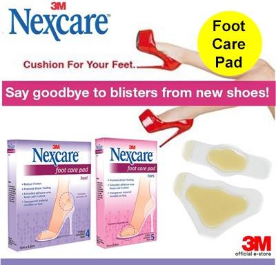 Hộp 4 miếng dán gót chân không đau khi mang giầy cao gót 3M hydrocolloid foot care pad - tặng thêm 1 hộp