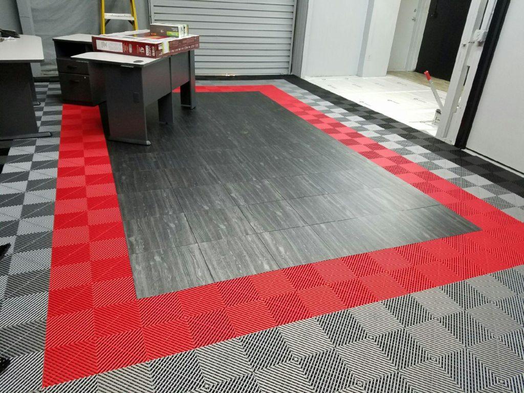 Tấm lót sàn chịu lực dạng lắp ghép SGCB Mosaic Ground Grid Red(đỏ) 400x400x18mm SGGD087-R mẫu 2018