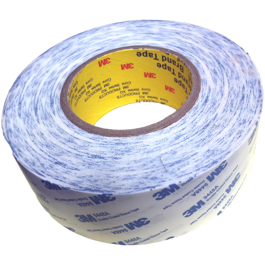 Băng keo 2 mặt 3M™ Double Coated Tissue Tape 9448A 50mmx50m(Trắng phối xanh)