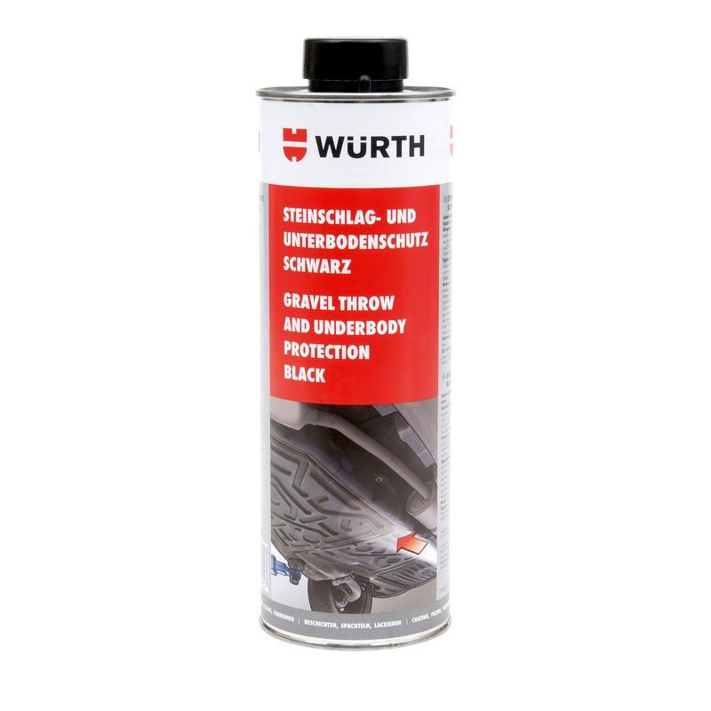 Phủ gầm đen gốc nhựa Wurth Stone Chip And Underbody protection black 1lit