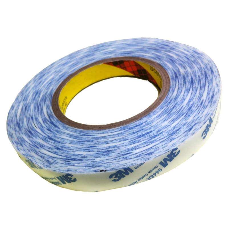 Băng keo 2 mặt 3M™ Double Coated Tissue Tape 9448A 15mmx50m(Trắng phối xanh)