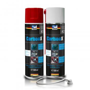 Vệ sinh loại bỏ mụi than Carbon trong buồng đốt Bluechem CarbonX K1 K2 Ducthanhauto