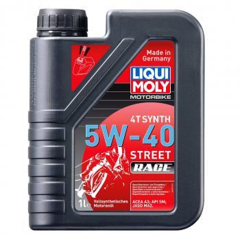 Nhớt tổng hợp hoàn toàn cao cấp Liqui Moly 5W-40 4T Synth Street Race 1 lit