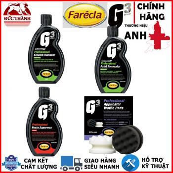 Bộ sản phẩm đánh bóng sơn 3 bước bằng tay Farecla - Anh Quốc - G3 Formula Professional 7164 7165 7166 7167