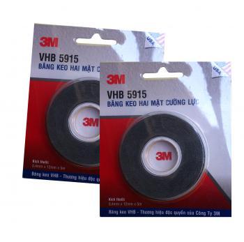Bộ 2 cuộn băng keo siêu dính 3M VHB 5915 12mmx5m(Đen)