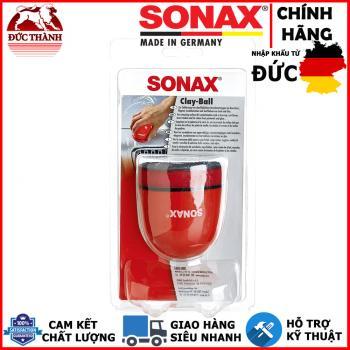 Phớt đất sét tẩy bụi sơn 3in - 75mm kèm dụng cụ cầm tay tiện dụng Sonax Clay Ball 419700
