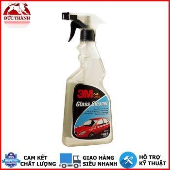 Chai xịt vệ sinh kính ô tô, kính xe đa dụng 3M Glass Cleaner 500ml 305921