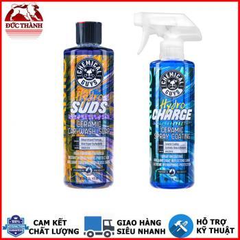 Bộ đôi sản phẩm rửa và xịt bóng phủ bảo vệ sơn cao cấp Chemical Guys Hydro Subs và Hydro Charge Cermic Wash/Coating