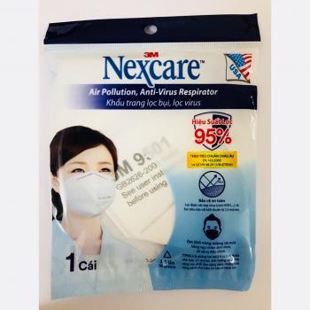 Khẩu trang 3M 9501 chuẩn KN95 chống bụi siêu mịn và chống virus các loại (cúm H5N1, SARS, )