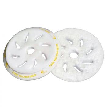 Phớt Microfiber trắng cắt nhẹ 5in (125mm) có lỗ giữa chuyên dùng cho máy DA15/LHR15 RUPES 9BF150FM