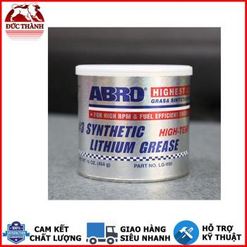 Mỡ Bò Xanh Bôi Trơn Tổng Hợp Chịu Nhiệt Đến 288 độ C Abro Synthetic Lithium Grease LG-990 454g