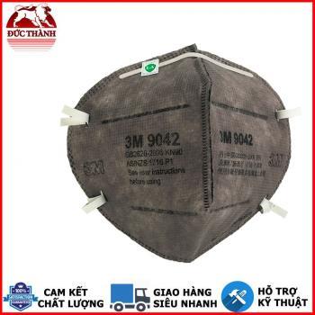 khẩu trang hoạt tính chống bụi mịn 2.5, dịch và hơi hoá chất 3M 9042 KN90 P1 đeo sau đầu không gây mỏi