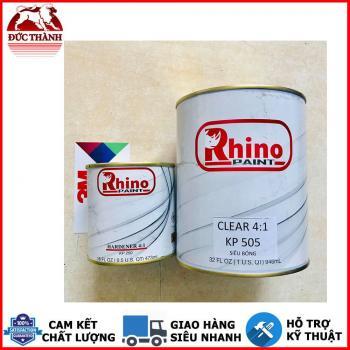 Sơn bóng 2K 2 thành phần cao cấp, tự phẳng mặt, kháng UV độ bề cao Rhino Paint KP 505 1.25kg