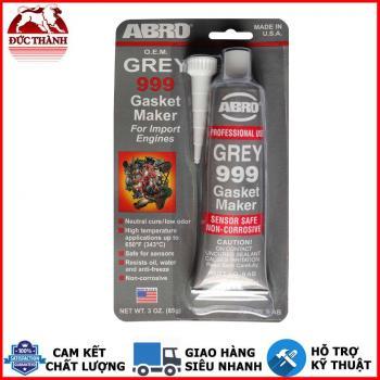 Keo RTV silicone chịu nhiệt chuyên dùng làm gioăng máy làm ron ABRO 999 Gasket Maker 85g (màu xám)