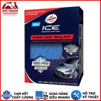 Nano Sealant tăng độ bóng và bảo vệ bề mặt sơn, nhựa, kim loại, kính Turtle Wax Ice Premium Car Care Shine Lock Sealant Kit 00489 118ml
