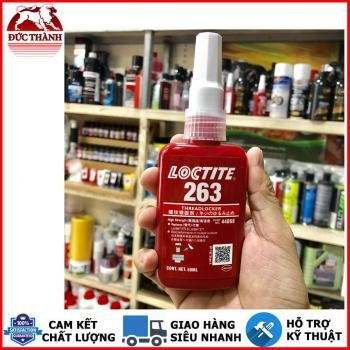 KEO DÁN KHÓA REN MÀU ĐỎ LOCTITE 263 HIGH STRENGTH THREADLOCKER 50ML