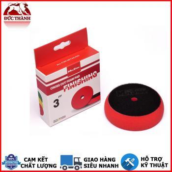 Phớt đánh bóng hoàn thiện bước 3 MaxShine Finishing - Cross Cut Foam Pads màu đỏ 2003090R 3in 7,5cm