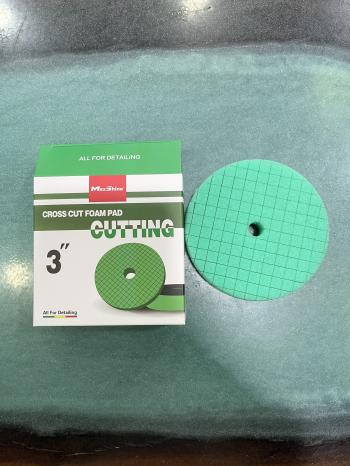 Phớt đánh bóng phá xước bước 1 MaxShine Cutting - Cross Cut Foam Pads màu xanh 2001090G 3in 7,5cm