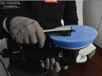 Dụng cụ vệ sinh làm sạch phớt đánh bóng RUPES Bigfoot Claw Pad Tool with Canvas Holder BF7002