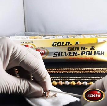 Kem đánh bóng kim loại quý Vàng - Bạc Autosol Gold & Silver Polish - 75ml #1050