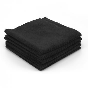 Khăn lau xe siêu mềm không viền màu đen Maxshine 330GSM 40cmx40cm All Purpose Microfiber Cut edge Towel 1104040B
