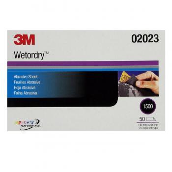 Giấy nhám cao cấp 3M 02023 Wetordry Abrasive Sheet P1500 (50 tờ/hộp