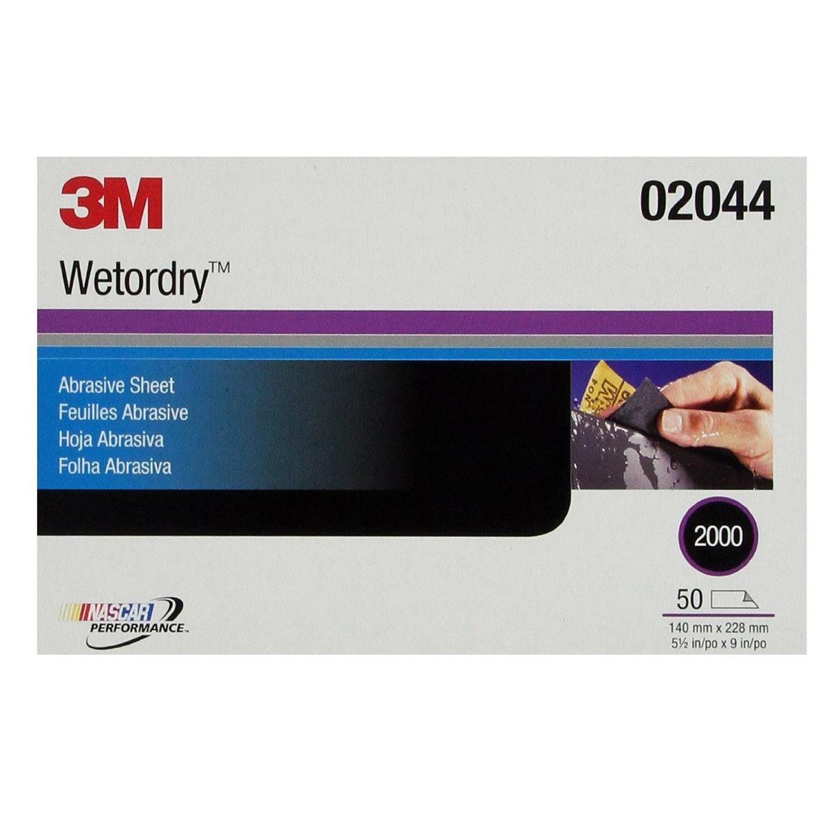 Giấy nhám cao cấp 3M 02044 Wetordry Abrasive Sheet P2000 (50 tờ/hộp)