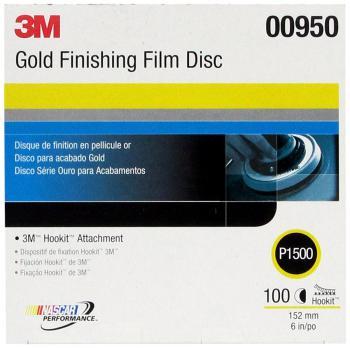 Nhám đĩa cao cấp hoàn thiện bề mặt 3M Gold Finishing Film Disc 00950 P1500 hộp 100 tờ