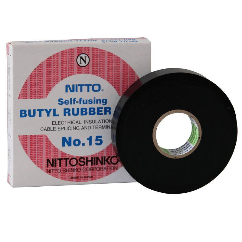 Băng keo điện Nitto Self-Fusing Butyl Rubber Tape No.15 chịu nhiệt và dòng cao 19mmx10m