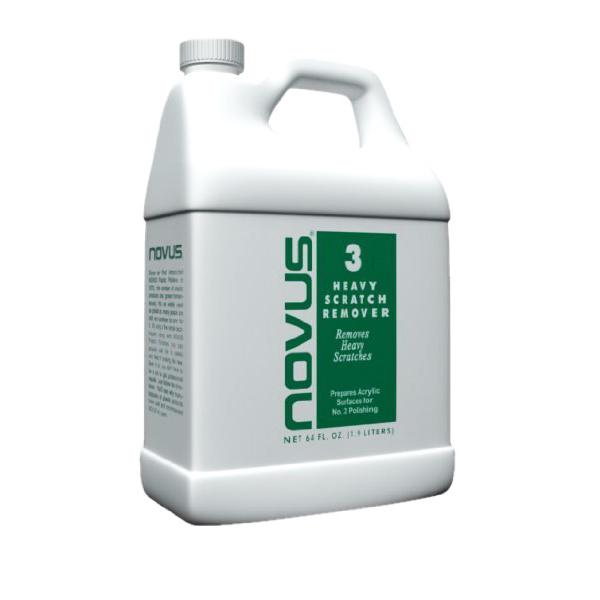 Novus #3 Repair & Prepare removes heavy scratches and abrasions from most acrylic surfaces.64oz(1.9lit)- Xóa vết sướt trên vật liệu acrylic
