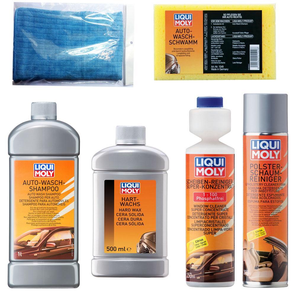 Bộ 6 sản phẩm vệ sinh chăm sóc xe hơi chuyên nghiệp Liqui Moly Combo 2