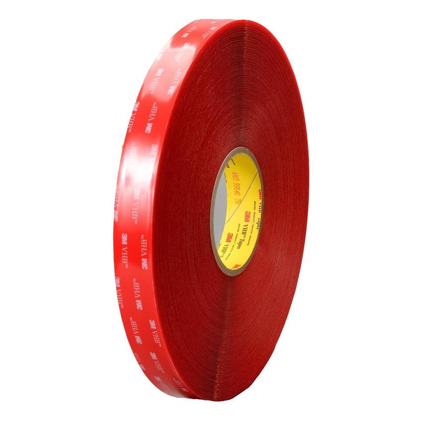 Băng keo 2 mặt 3M VHB 4910 trong suốt 20mmx33m (Đỏ)