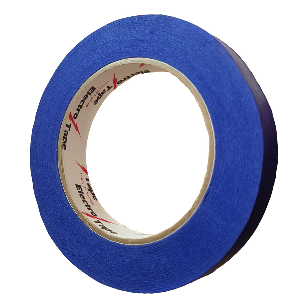 Băng keo giấy masking tape, phân vạch, làm dấu màu xanh nước biển 15mmx33m