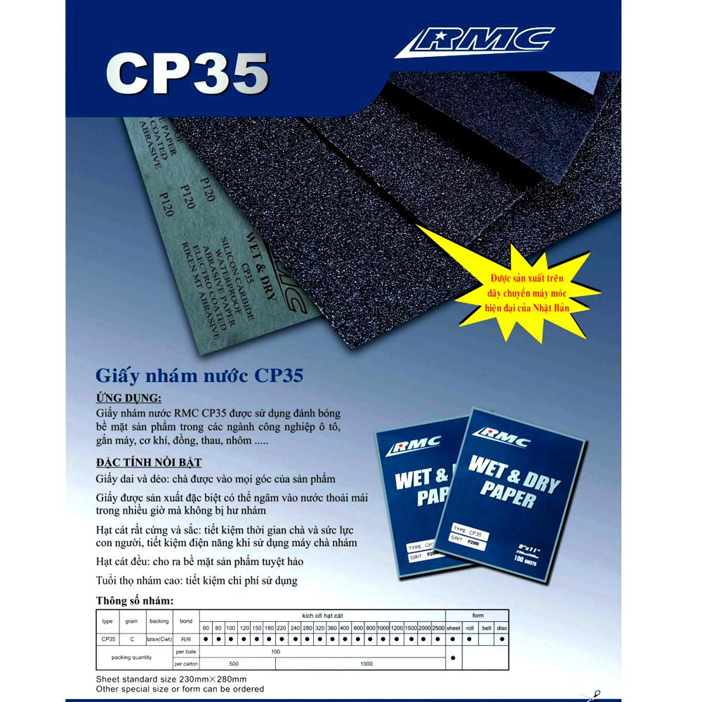 Giấy nhám tờ RMC CP35 P1500