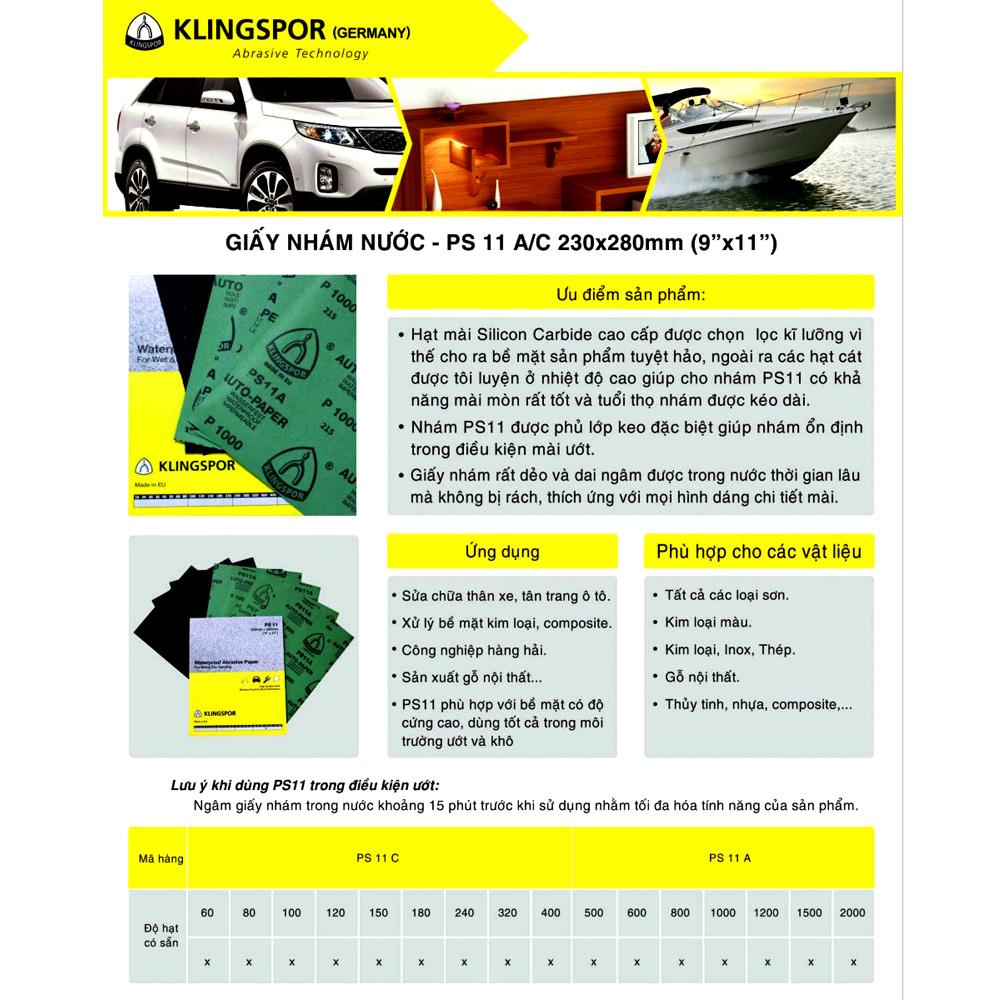 Nhám Klingspor PS11 (Germany) P600