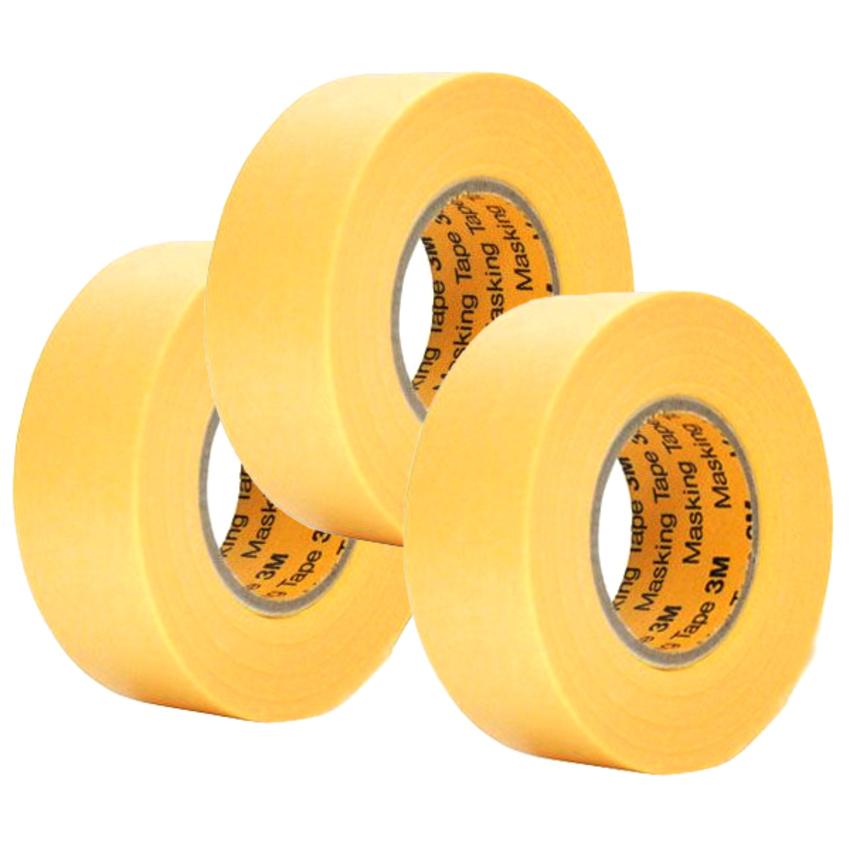 Băng keo masking tape 3M cao cấp 243J Plus 20mmx18m
