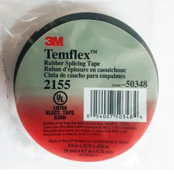 Băng keo cao su cách điện hạ thế 3M Temflex Rubber Splicing Tape 2155 19mmx6.7m