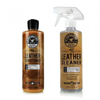 Bộ sản phẩm vệ sinh và bảo dưỡng da cao cấp Chemical Guys Leather Cleaner and Conditioner 16oz