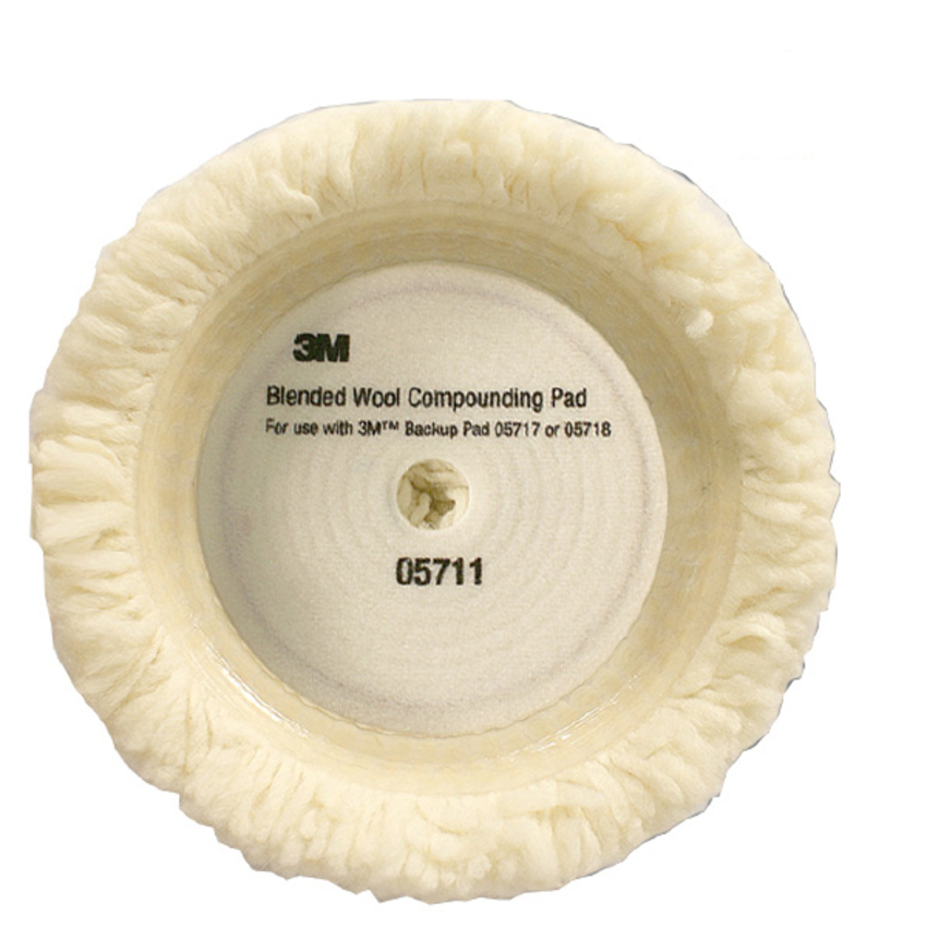 Phớt lông cừu 1 mặt 3M 05711 9 inch (Trắng)