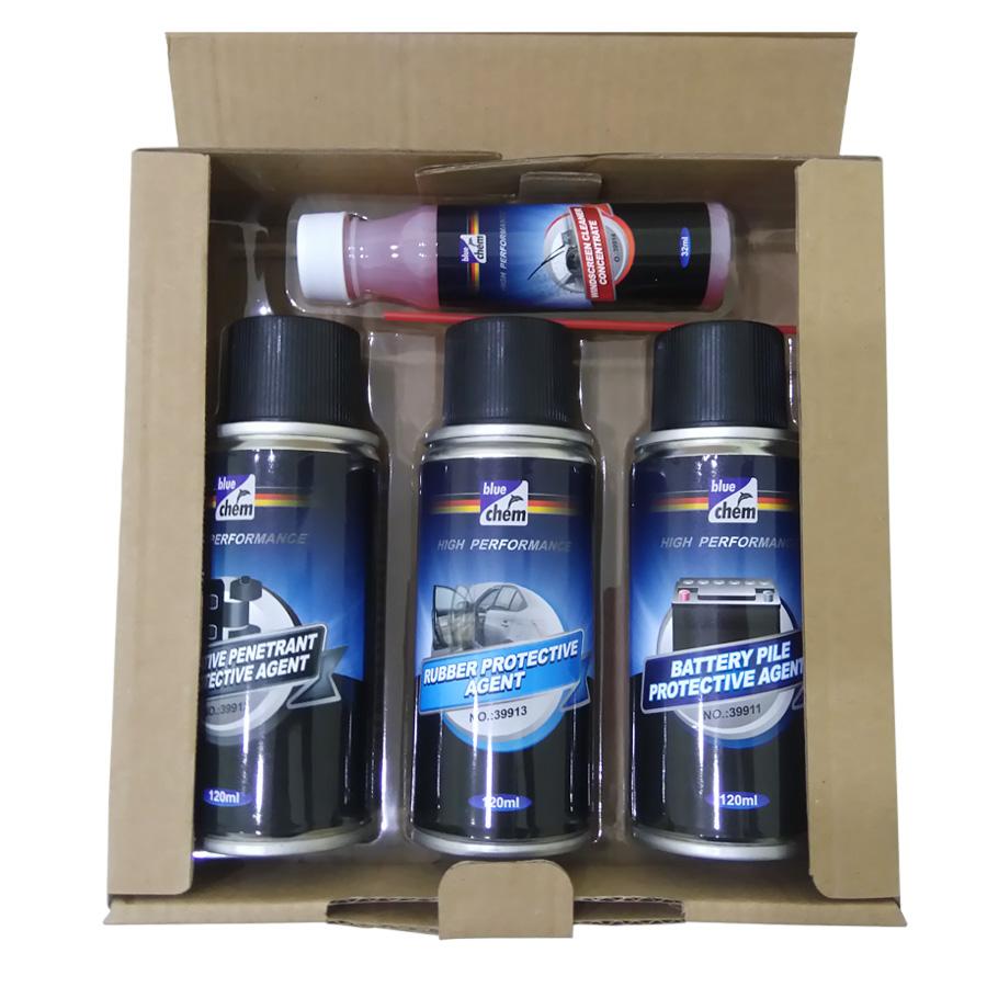 Bộ 4 sản phẩm bảo dưỡng thân xe BlueChem Four Guards For Car