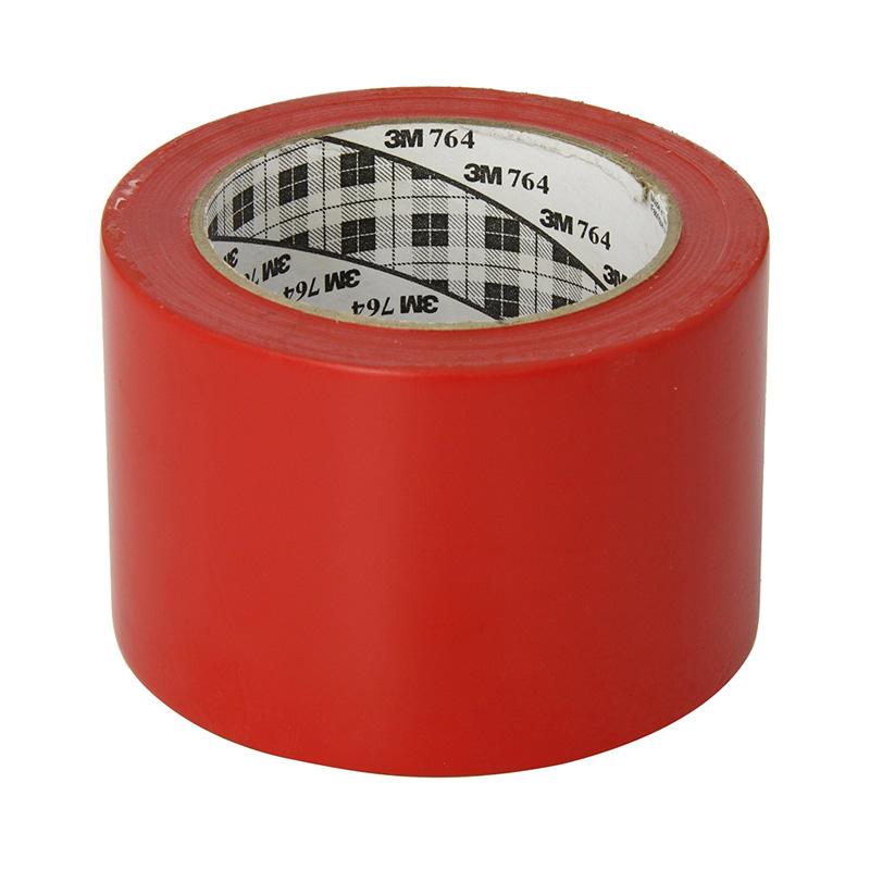 Băng keo dán nền 3M 764 màu đỏ 70mm x 33m