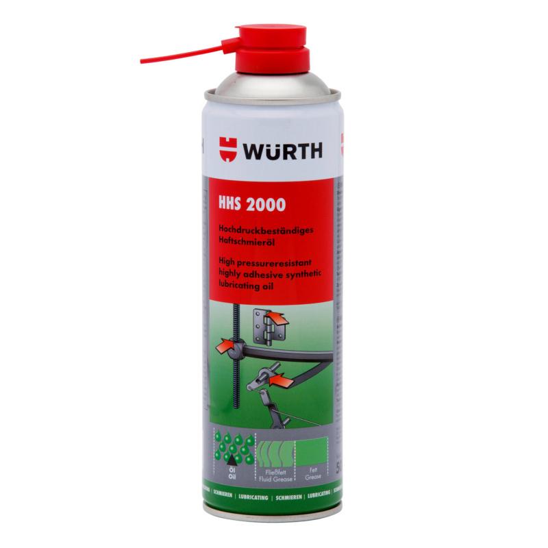 Mỡ bò nước dạng xịt bôi trơn chịu nhiệt Wurth HHS 2000 500ml