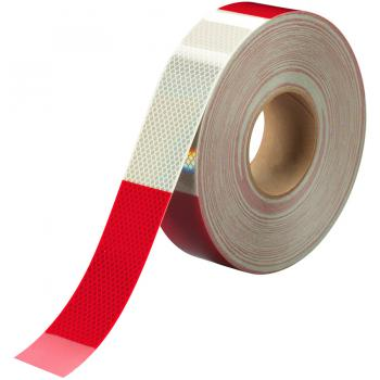 Băng keo phản quang kim cương 3M đỏ trắng 983  2in x 45.7m